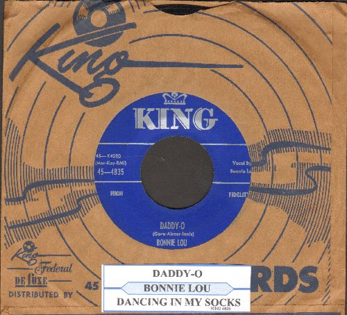 Bonnie Lou - Daddy-O/Dancing In My Socks (with juke box label and vintage King company sleeve) - EX8/ - 45 rpm Records