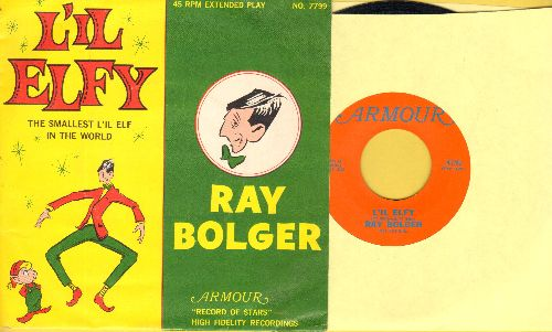 Bolger, Ray - Li'l Elfy/Frosty The Snowman (with RARE picture sleeve) - NM9/NM9 - 45 rpm Records