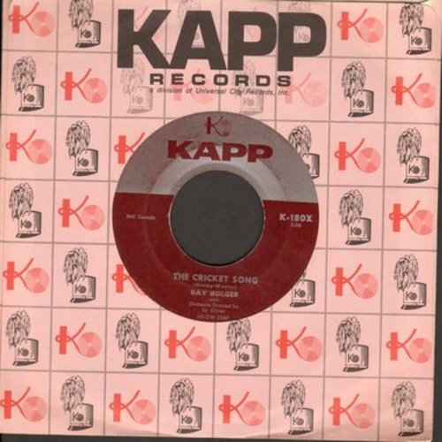 Bolger, Ray - The Cricket Song (ENCHANTING Novelty!)/Once In Love With Amy (with Kapp company sleeve) (wol) - VG7/ - 45 rpm Records