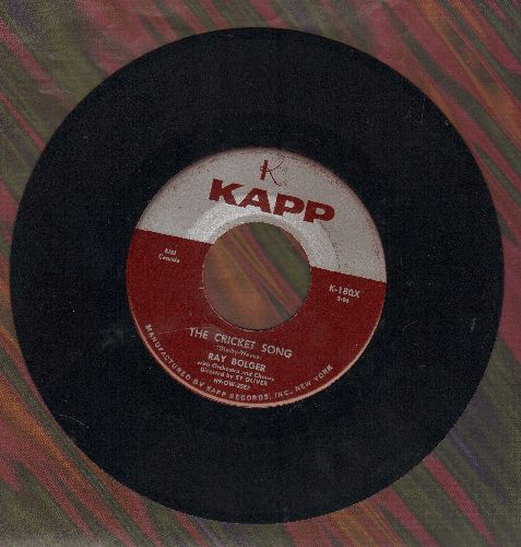 Bolger, Ray - The Cricket Song (ENCHANTING Novelty!)/Once In Love With Amy (wol) - VG7/ - 45 rpm Records