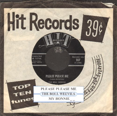 Bool Weevils - Please Please Me/My Bonnie (contemporary cover versions of Hits, with juke box label and RARE company sleeve) - NM9/ - 45 rpm Records