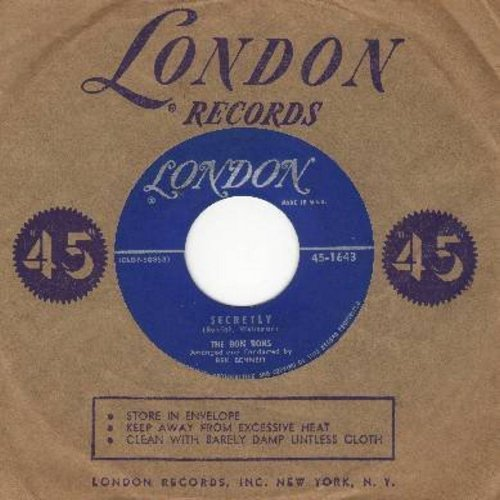 Bon Bons - Secretly/Precious Love (with vinatge London company sleeve) - NM9/ - 45 rpm Records