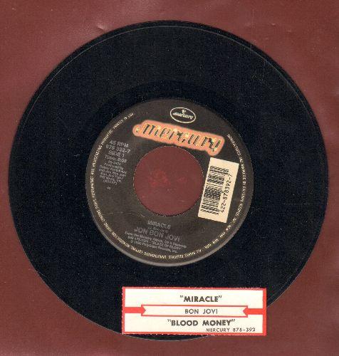 Bon Jovi - Miracle/Blood Money (with juke box label) - NM9/ - 45 rpm Records