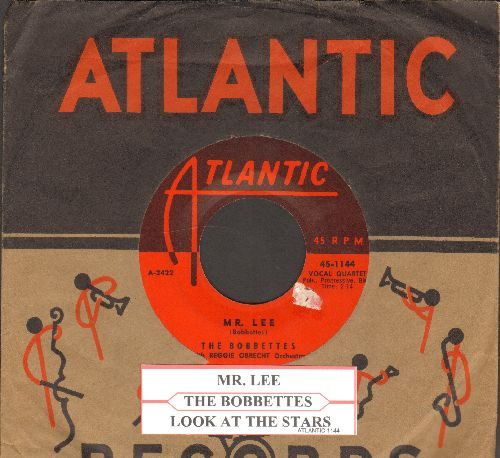 Bobbettes - Mr. Lee/Look At The Stars  (first pressing with vintage Atlantic company sleeve and juke box label) - NM9/ - 45 rpm Records
