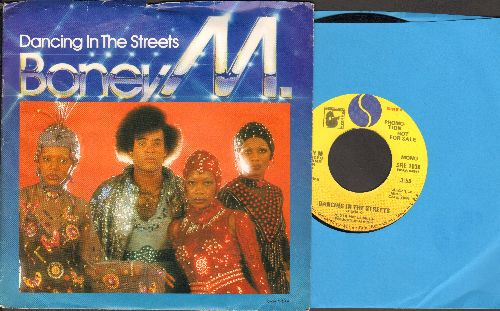 Boney M - Dancing In The Street (double-A-sided MONO/STEREO DJ advance pressing with picture sleeve) - NM9/EX8 - 45 rpm Records