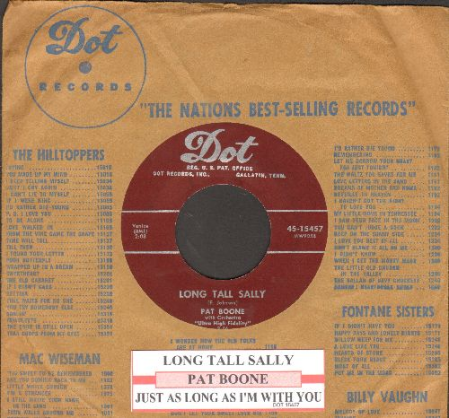 Boone, Pat - Long Tall Sally/Just As Long As I'm With You (with juke box label and company sleeve) - EX8/ - 45 rpm Records
