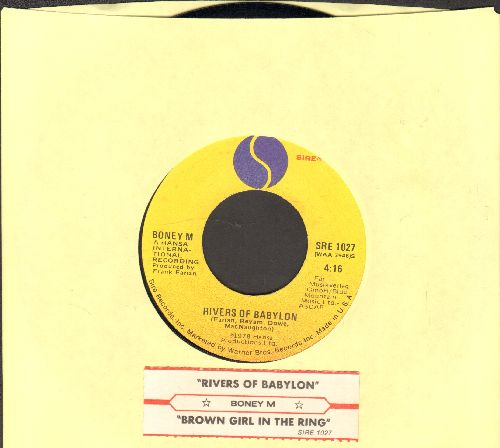 Boney M - Rivers Of Babylon/Brown Girl In The Ring (with juke box label) - EX8/ - 45 rpm Records