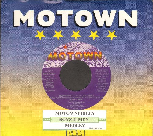Boyz II Men - Motownphilly/Medley (RARE 1991 Hip-Hop two-sider withjuke box label and Motown company sleeve) - NM9/ - 45 rpm Records