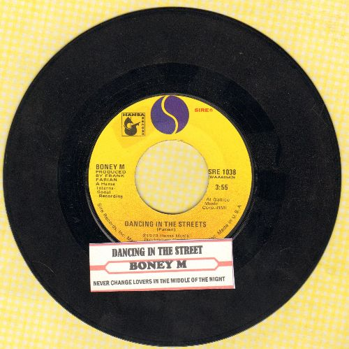 Boney M - Dancing In The Street/Never Change Lovers In The Middle Of The Night (with juke box label) - VG7/ - 45 rpm Records