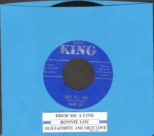 Bonnie Lou - Drop Me A Line/Old Faithful And True Love (with juke box label) - NM9/ - 45 rpm Records