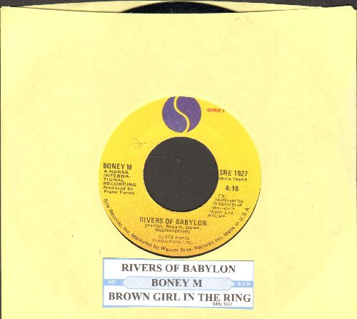 Boney M - Rivers Of Babylon/Brown Girl In The Ring (MINT condition with juke box label) - M10/ - 45 rpm Records