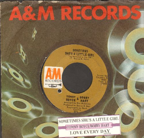 Boyce & Hart - Sometimes She's A Little Girl/Love Every Day (with juke box label and A&M company sleeve) (bb) - EX8/ - 45 rpm Records
