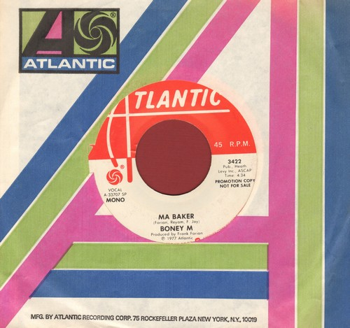 Boney M - Ma Baker (double-A-sided DJ advance pressing with MONO and STEREO vesion, with Atlantic company sleeve) - EX8/ - 45 rpm Records