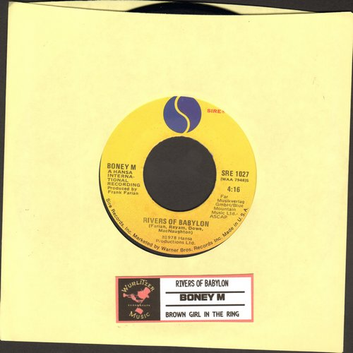 Boney M - Rivers Of Babylon/Brown Girl In The Ring (with juke box label) - NM9/ - 45 rpm Records