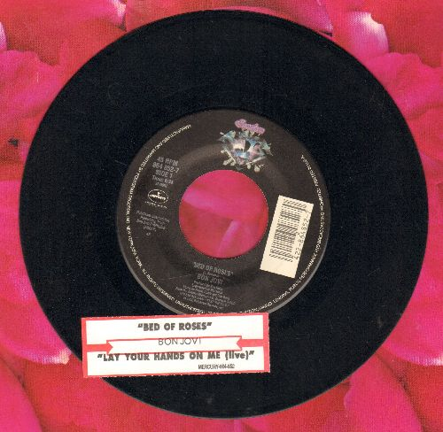 Bon Jovi - Bed Of Roses/Lay Your Hands On Me (Live) (with juke box label) - EX8/ - 45 rpm Records