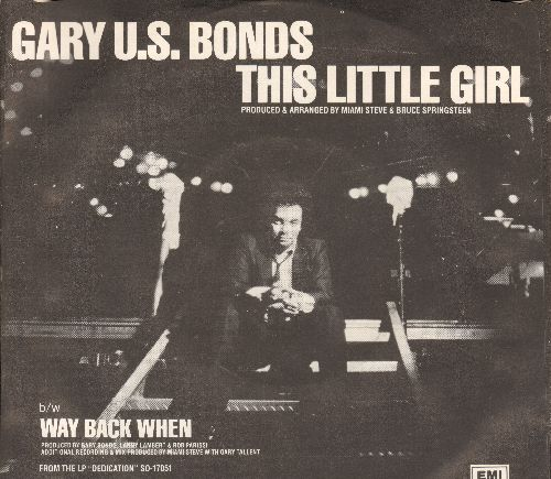 Bonds, Gary U.S. - This Little Girl (Is Mine)/Way Back When (with picture sleeve) - NM9/NM9 - 45 rpm Records