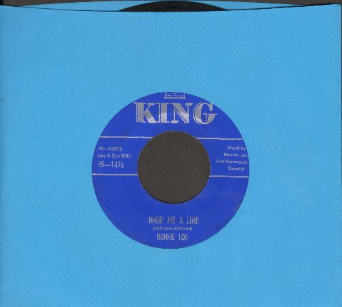 Bonnie Lou - Drop Me A Line/Old Faithful And True Love - VG7/ - 45 rpm Records