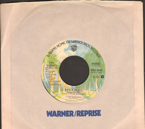 Boone, Debby - You Light Up My Life (SLOW-DANCE FAVORITE! - Spent 10 weeks at #1 of US Hot 100 Charts!)/He's A Rebel (RARE alternate flip-side!) (with Warner Brothers company sleeve) - EX8/ - 45 rpm Records