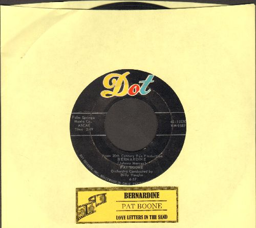 Boone, Pat - Bernardine/Love Letters In The Sand (with juke box label) - VG7/ - 45 rpm Records