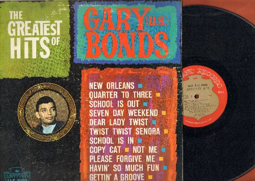 Bonds, Gary U.S. - Dance 'Til Quarter To Three: Quarter To Three, Dear Lady Twist, Seven Day Weekend, New Orleans, School Is Out (Vinyl MONO LP record) - VG7/VG7 - LP Records
