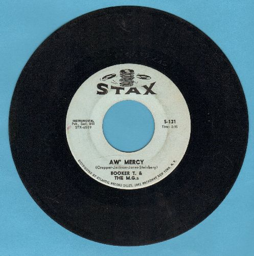 Booker T. & The M.G.'s - Aw' Mercy/Jelly Bread - VG6/ - 45 rpm Records
