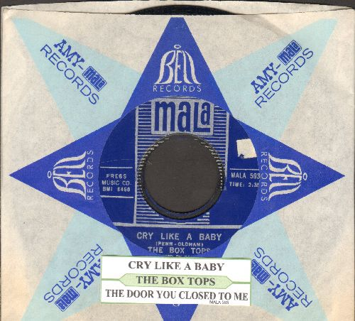 Box Tops - Cry Like A Baby/The Door You Closed To Me (with juke box label and Mala company sleeve) - NM9/ - 45 rpm Records