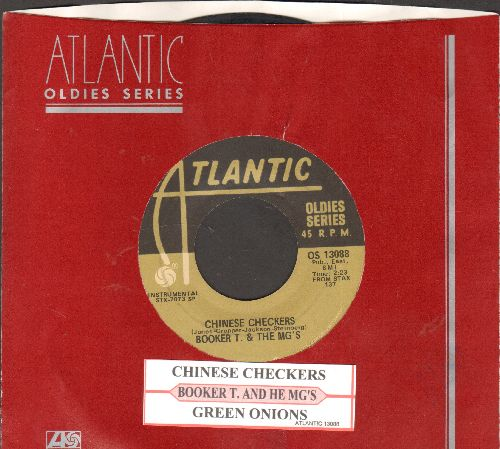 Booker T. & The M.G.'s - Chinese Checkers/Green Onions (double-hit re-issue with juke box label and Atlantic company sleeve) - VG7/ - 45 rpm Records