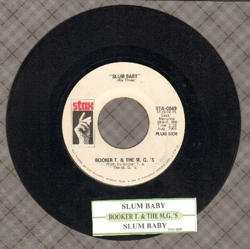 Booker T. & The M.G.'s - Slum Baby (double-A-sided DJ advance pressing with juke box label) - EX8/ - 45 rpm Records