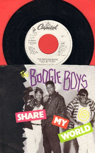 Boogie Boys - Share My World (double-A-sided DJ advance pressing with picture sleeve) - NM9/NM9 - 45 rpm Records