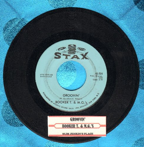 Booker T. & The M.G.'s - Groovin'/Slim Jenkin's Place (with juke box label) - EX8/ - 45 rpm Records