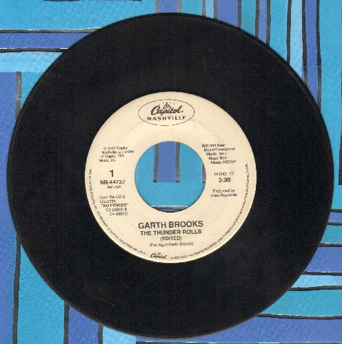 Brooks, Garth - The Thunder Rolls/Victim Of The Game (DJ advance pressing) - EX8/ - 45 rpm Records