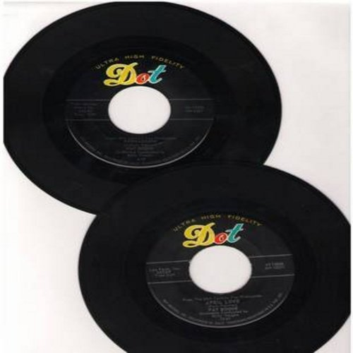 Boone, Pat - 2 for 1 Special: April Love/Bernardine (2 vintage first issue 45rpm records with juke box labels for the price of 1!) - EX8/ - 45 rpm Records