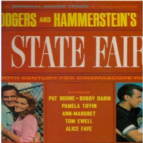 Boone, Pat, Bobby Darin, Ann-Margret, others - State Fair: Original Motion Picture Sound Track - includes Our State Fair, It Might As Well Be Spring, It's A Grand Night For Singing, This Isn't Heaven, The Little Things In Texas (Vinyl MONO LP record) - EX