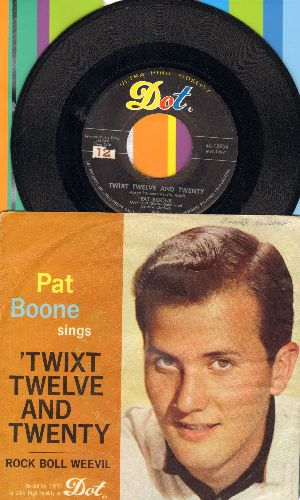 Boone, Pat - Rock-Boll-Weevil/Twixt Twelve And Twenty (with picture sleeve) - VG7/VG7 - 45 rpm Records