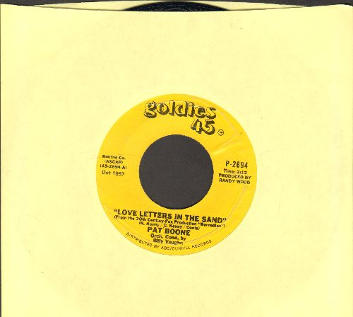 Boone, Pat - Love Letters In The Sand/A Wonderful Time Up There (1970s re-issue) - NM9/ - 45 rpm Records