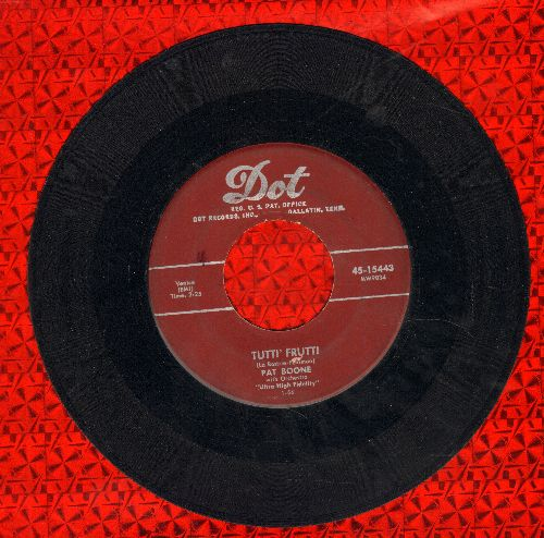 Boone, Pat - Tutti' Frutti/I'll Be Home (maroon label first issue) - VG7/ - 45 rpm Records