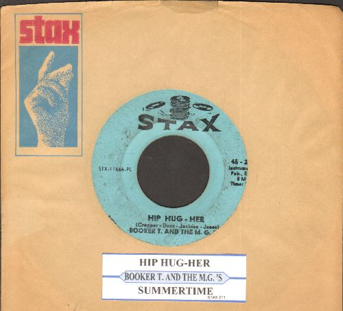 Booker T. & The M.G.'s - Hip Hug-Her/Summertime (with juke box label and Stax company sleeve) - VG7/ - 45 rpm Records