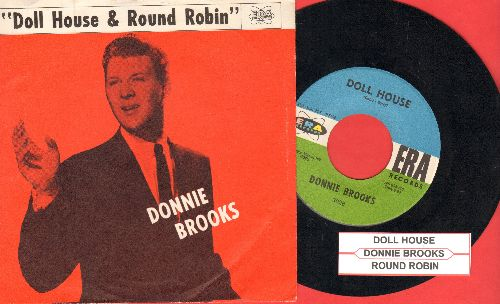 Brooks, Donnie - Round Robin/Doll House (with RARE picture sleeve and juke box label) - EX8/NM9 - 45 rpm Records