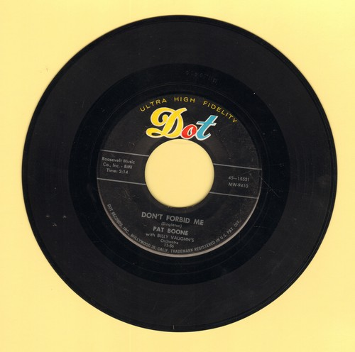 Boone, Pat - Don't Forbid Me/Anastasia - VG7/ - 45 rpm Records