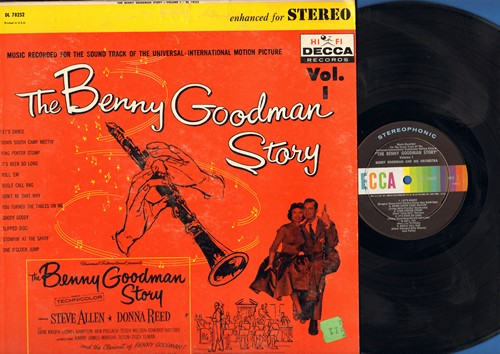 Goodman, Benny - The Benny Goodman Story Vol. 1 - Original Motion Picture Sound Track: Let's Dance, Bugle Call Jump, One O'Clock Jump, Goody Goody (Vinyl LP record, enhanced for STEREO) - NM9/VG7 - LP Records