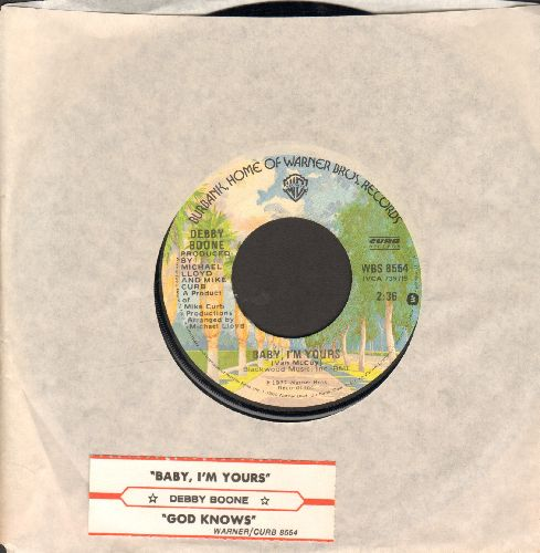 Boone, Debby - Baby, I'm Yours/God Knows (with warner Brothers company sleeve and juke box label) - NM9/ - 45 rpm Records