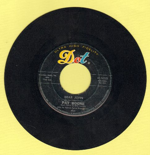 Boone, Pat - Dear John/Alabam - VG7/ - 45 rpm Records