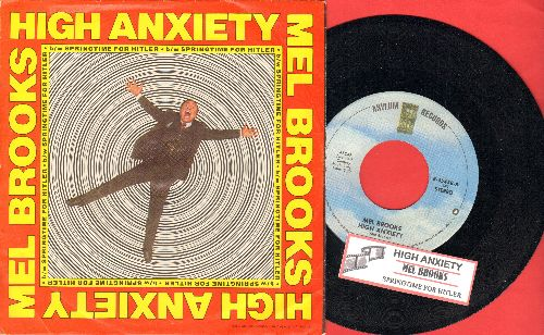 Brooks, Mel - High Anxiety/Springtime For Hitler (with RARE picture sleeve with juke box label) - NM9/EX8 - 45 rpm Records