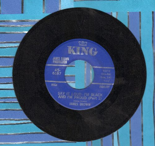 Brown, James - Say It Loud - I'm Black And I'm Proud (Parts 1 + 2) - EX8/ - 45 rpm Records