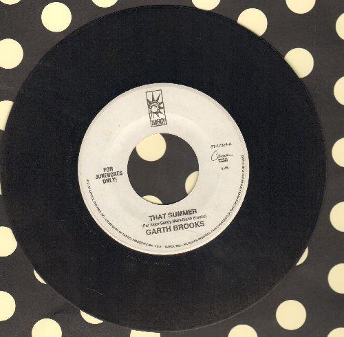 Brooks, Garth - That Summer/Dixie Chicken (RARE Jukebox Pressing) - VG7/ - 45 rpm Records