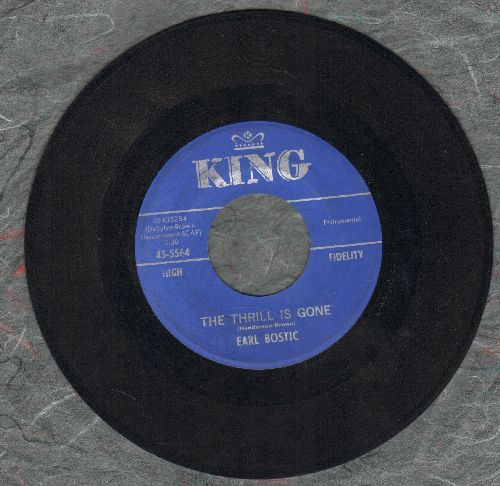Bostic, Earl - The Thrill Is Gone/April In Portugal - EX8/ - 45 rpm Records