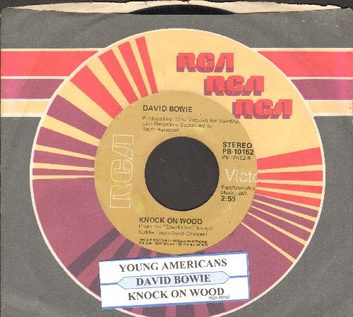 Bowie, David - Knock On Wood/Young Americans (with juke box label and RCA company sleeve) - VG7/ - 45 rpm Records