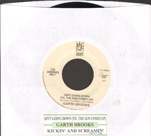 Brooks, Garth - Ain't Going Down (Til The Sun Comes Up)/Lickin' And Screamin' (with juke box label) (with juke box label) - NM9/ - 45 rpm Records