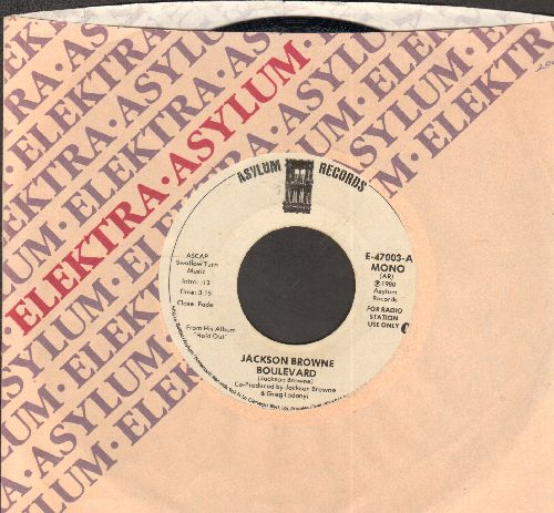 Browne, Jackson - Boulevard (double-A-sided DJ advance pressing with company sleeve) - NM9/ - 45 rpm Records