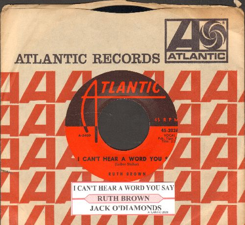 Brown, Ruth - Jack'O Diamonds/I Can't Hear A Word You Say (with Atlantic company sleeve and juke box label) - NM9/ - 45 rpm Records